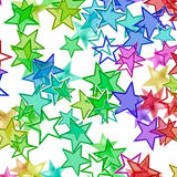 Many multicolored stars background with neon shining Royalty Free Stock Image