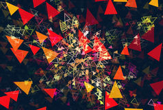 Many multicolored triangles pointer background Royalty Free Stock Images