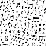 Many music signs and note on white background Stock Photography