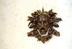 Brass Bacchus ornament Stock Photos