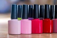Many Nail polish colorful royalty free stock images