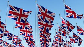 Many National flags of United Kingdom Royalty Free Stock Image