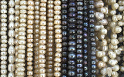 Many  necklaces of  pearl Royalty Free Stock Images