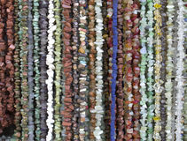 Many necklaces of semiprecious stones Stock Photography