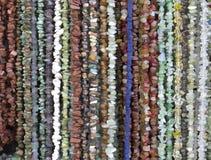 Many necklaces of semiprecious stones Stock Photography
