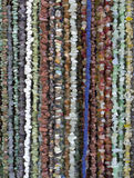 Many necklaces of semiprecious stones Stock Image