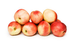 Many nectarines isolated Stock Images