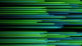 Many neon lighting lines on black, abstract computer generated backdrop, 3D render stock illustration