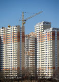 Many new building new building constructing in process Royalty Free Stock Image