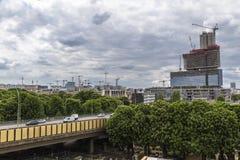 Many new construction in Paris Royalty Free Stock Photos