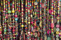 Many new necklaces from coconut shell Royalty Free Stock Photos