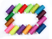 Many nice colorful bobbins Royalty Free Stock Images