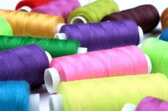 Many nice colorful bobbins Stock Photography