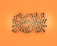 Many numbers Stock Image