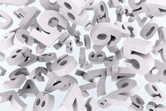Many numbers in the air Stock Images