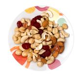 Many nuts. Isolated on white Stock Images
