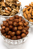 Many nuts in bowls Stock Photography