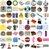 Many objects isolated Royalty Free Stock Photo