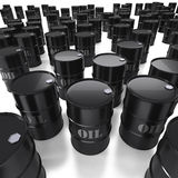 Many oil barrels forming a background Stock Photography