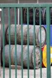 Many old barrell Stock Photo