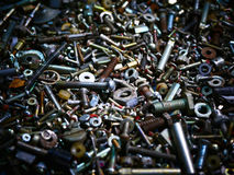 Many of the old bolts and nuts. Background stock images