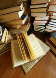 Many old books Royalty Free Stock Image