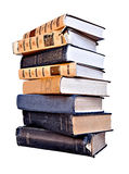 Many old  books.Isolated. Royalty Free Stock Photo