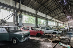 Many old cars stored Royalty Free Stock Photo