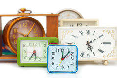 Many old clocks Royalty Free Stock Photo