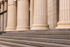 Many old greek columns in a row Royalty Free Stock Image