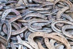 Many old horseshoes Royalty Free Stock Images
