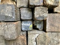 Many old logs stacked on the floor. Many old logs stacked on the floor, background stock images