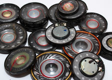 Many old speakers Stock Image
