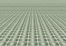 Many one dollar bills Royalty Free Stock Photography