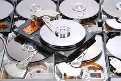 Many Open Hard drives Stock Photos