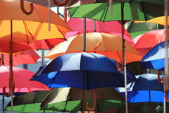 Many open umbrellas Stock Photos