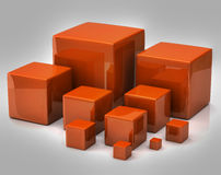 Many orange cubes Stock Image