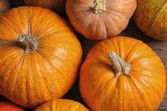 Many orange pumpkins as background, closeup. Autumn holidays royalty free stock photos