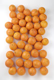 Many oranges seen from above Stock Image