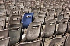 Many outdoor seats Royalty Free Stock Photo