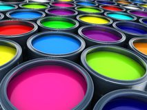 Many Paint Stock Photography