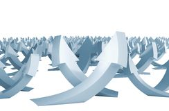 Many pale blue arrows Royalty Free Stock Image