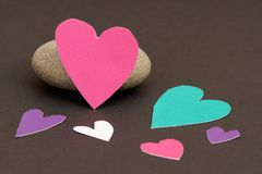 Many paper hearts Royalty Free Stock Photography
