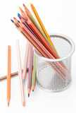 Many pastel crayons Stock Image