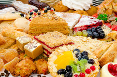 Many pastries Stock Images