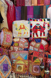 Many patchwork pillows Royalty Free Stock Photos