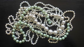Many pearl necklaces and bracelets Stock Photography