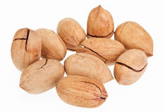 Many pecan nuts Royalty Free Stock Photo