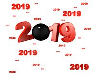 Many Pelote ball 2019 Designs. With a White Background vector illustration