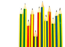 Many Pencil on white Stock Photography